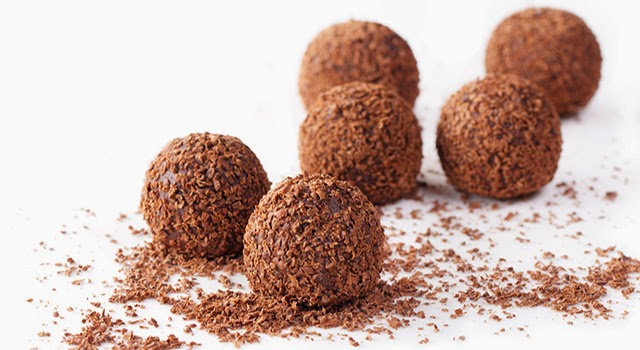 Trufas de chocolate paso 0