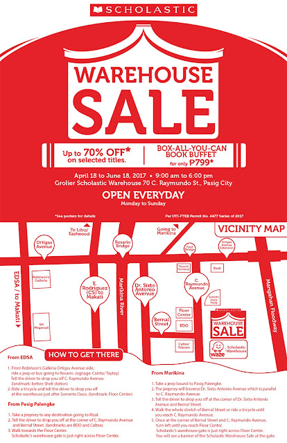 Scholastic Warehouse Sale Summer 2017 map
