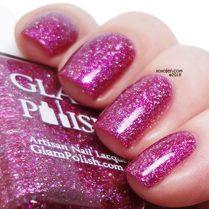 xoxoJen's swatch of Glam Polish You Had Me At HOLO!