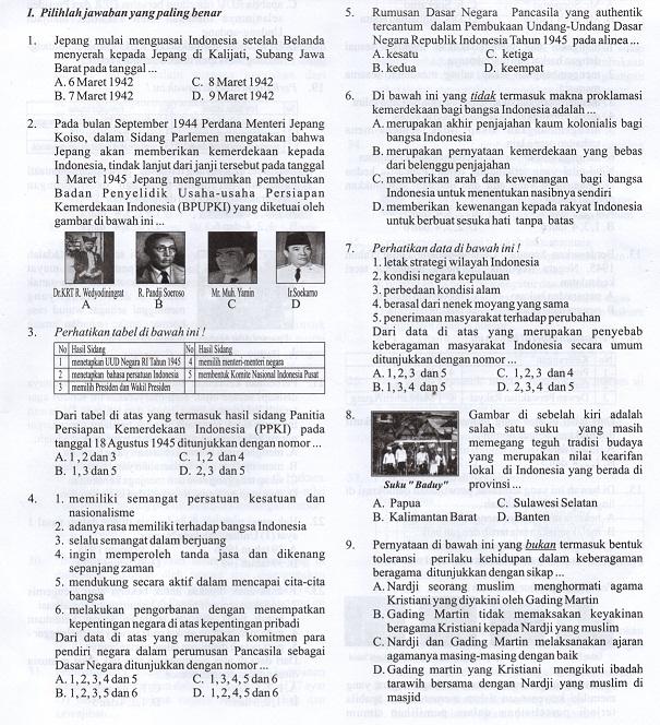 Soal Latihan Usbn Ppkn Smp Kurikulum 2013