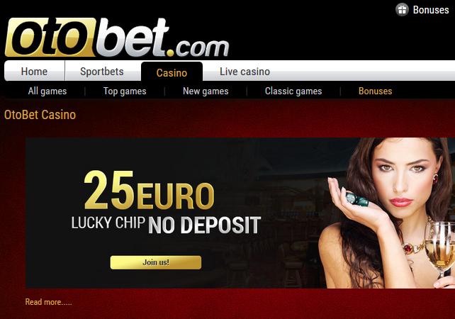 Otobet Casino Screen