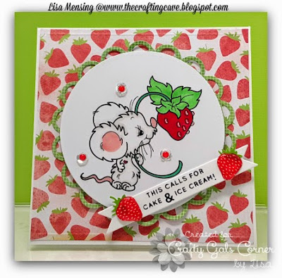 Strawberry Mouse, Critters, Birthday, The Crafting Cave