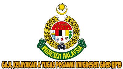 Gaji, Kelayakan & Tugas Pegawai Imigresen Gred KP19