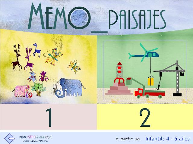 Memo-paisajes. Memoria espacial y atención. Infantil 4-5 años.