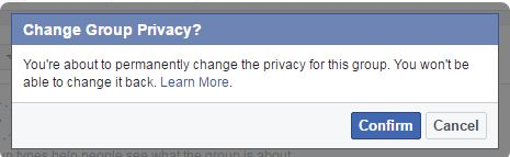 How To Change The Privacy For A Group step 4