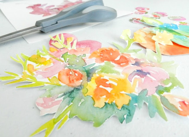 Watercolor Flower Cut-Outs: growcreativeblog