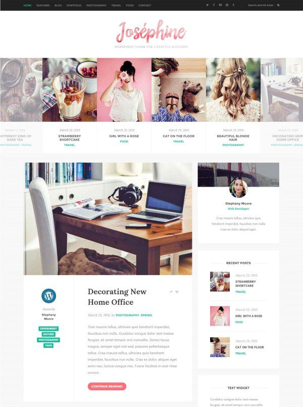 lifestyle and fashion blog theme