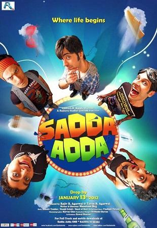 Poster Of Sadda Adda 2012 Hindi 350MB HDRip 480p Free Download Watch Online