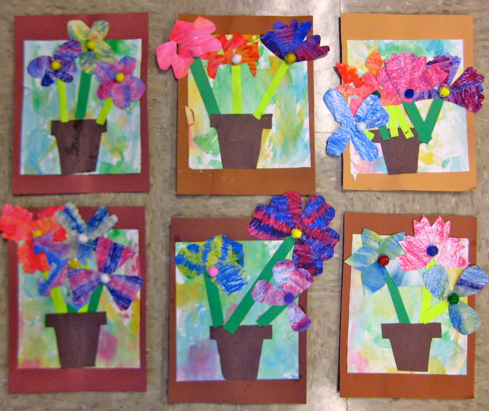 Experiments In Art Education Eric Carle Flower Pots