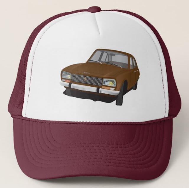 Classic Peugeot 504 trucker hat cap