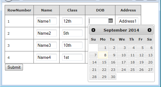 how to display calendar in web grid using mvc | The ASP NET Forums