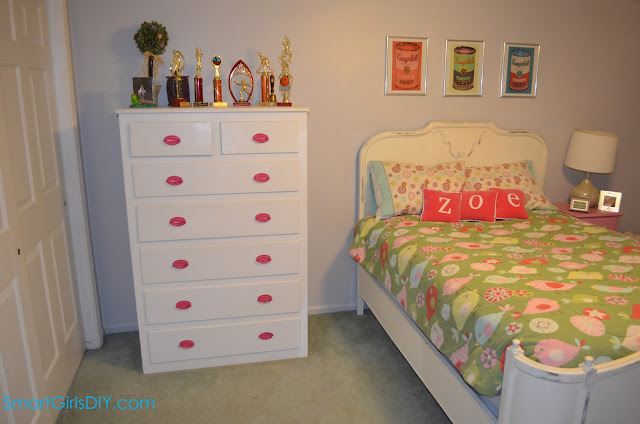 tall white chest of drawers spray paint hot pink drawer pulls
