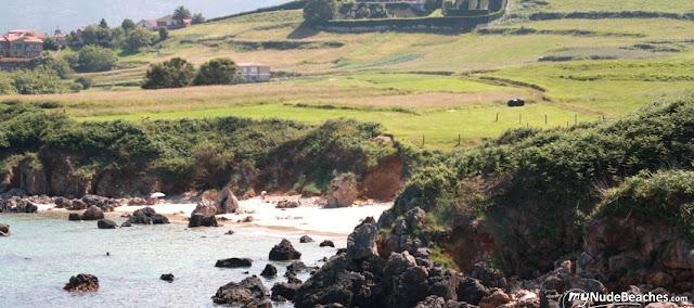 Nude beach Valles (Asturias, Spain)