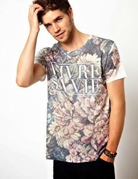 Trend fashion style gaya busana pria 2015 - Motif bunga (floral)