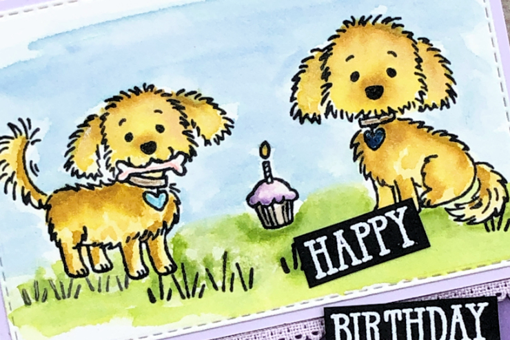 Jo's Stamping Spot - Puppy Watercolour Birthday