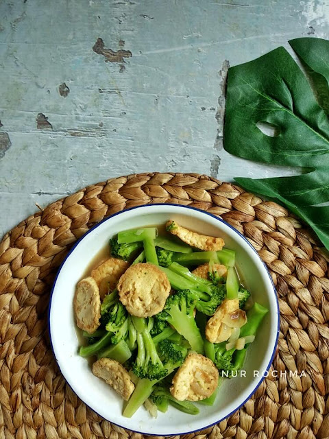 tumis brokoli tofu