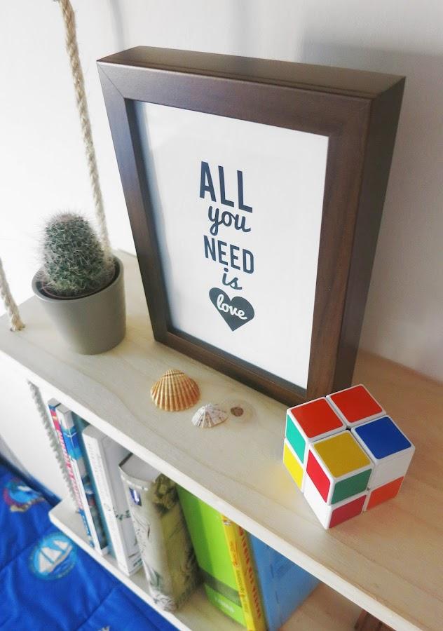 Decorar en familia: Lámina descargable All You Need Is Love3