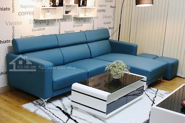 Ghế sofa màu xanh dịu mát cho mùa hè