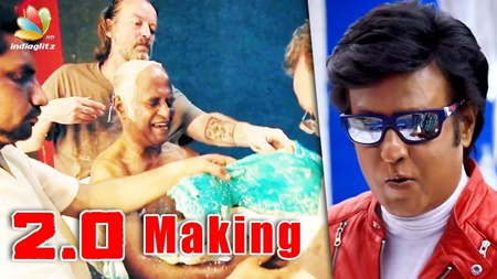 2.O Making Video : First Official Glimpse of Enthiran Part 2 | Review & Reactions | Makeup