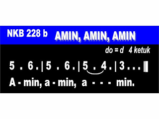 Lirik dan Not NKB 228b Amin, Amin, Amin