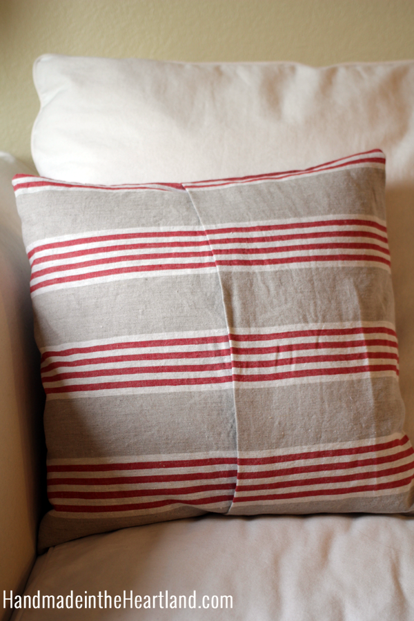 DIY Apple Envelope Throw Pillow