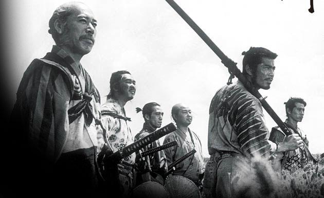 frupo de samurais preparandose para la batalla