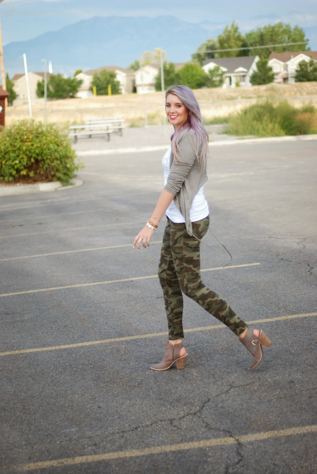 Lavender Hair, Army Pants