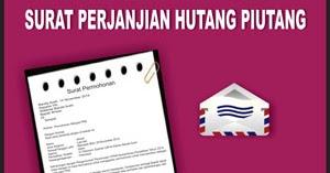 Contoh Surat Perjanjian Hutang Piutang Contoh Surat
