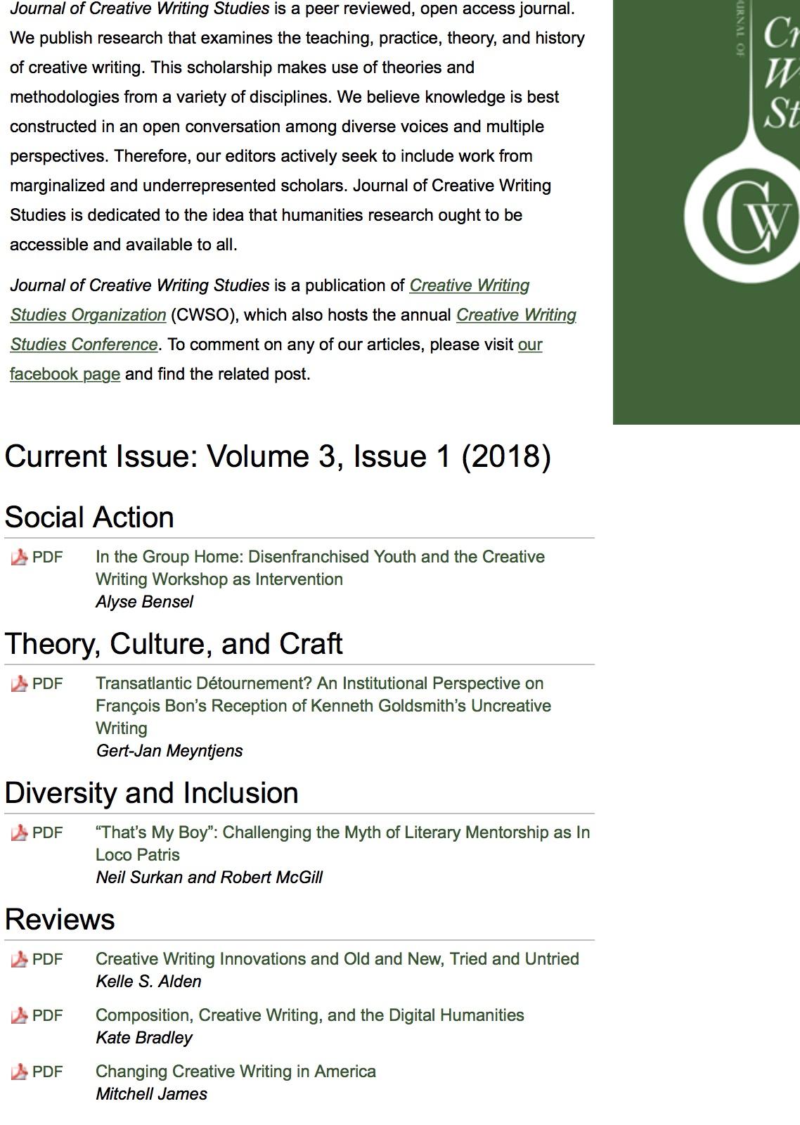 elements of creative writing pdf