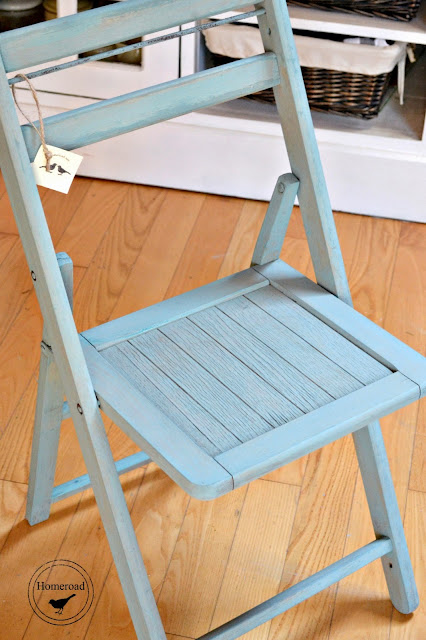 Blue Painted-Folding-Chair