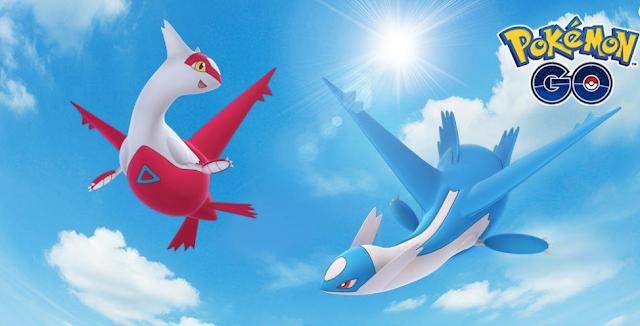 Ya disponible Latios y Latias en Pokémon GO