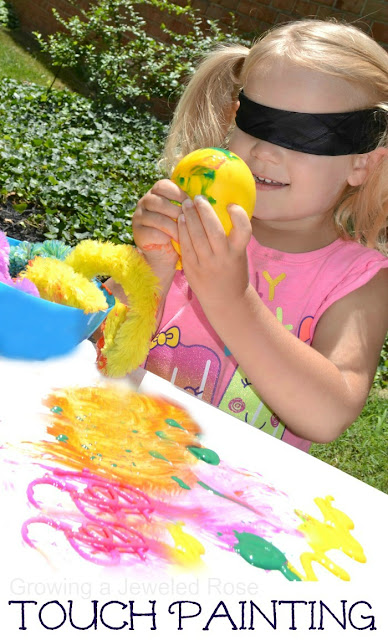 Touch painting- a super fun way to explore the sense of touch through art!
