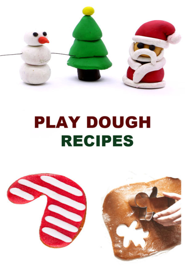 PLAY DOUGH RECIPES: Easy recipes for Christmas play dough (Gingerbread, candy cane, sugar cookie, & more!) #playdough #playdoughrecipe #playdoughrecipenocook #christmasplaydough #christmasplaydoughrecipe #playdoughrecipeeasy #growingajeweledrose