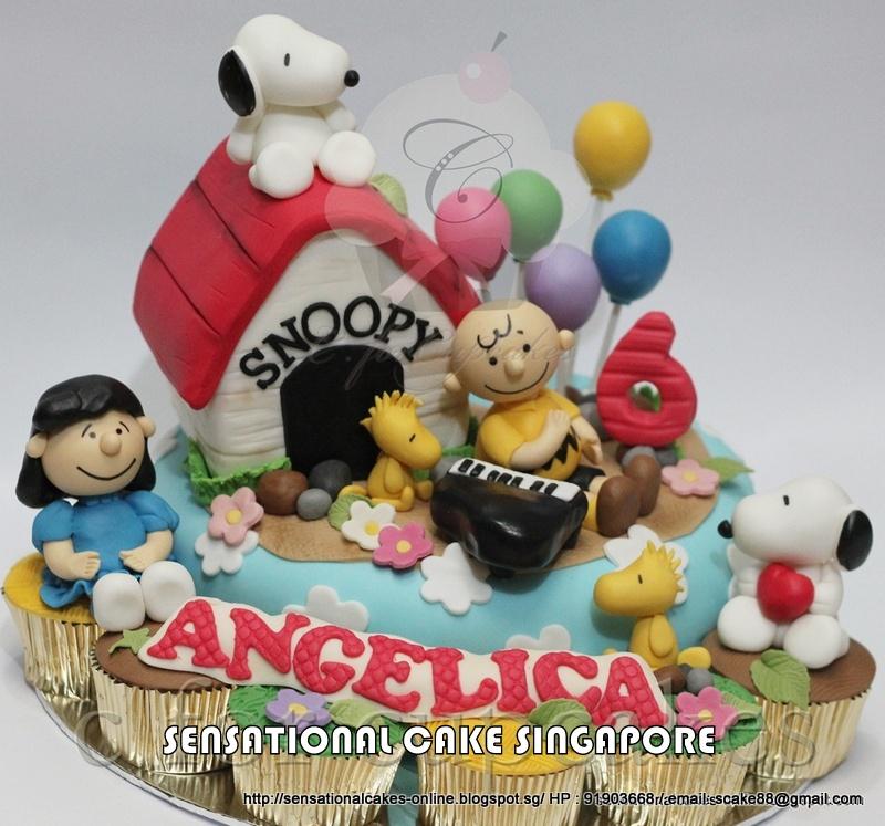 Snoopy Birthday Cake Singapore