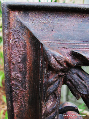 diy rusted wrought iron finish