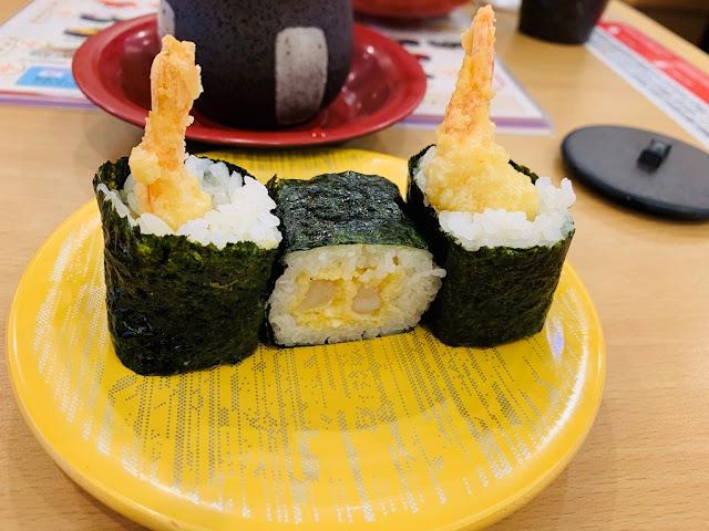 炸蝦天婦羅軍艦壽司