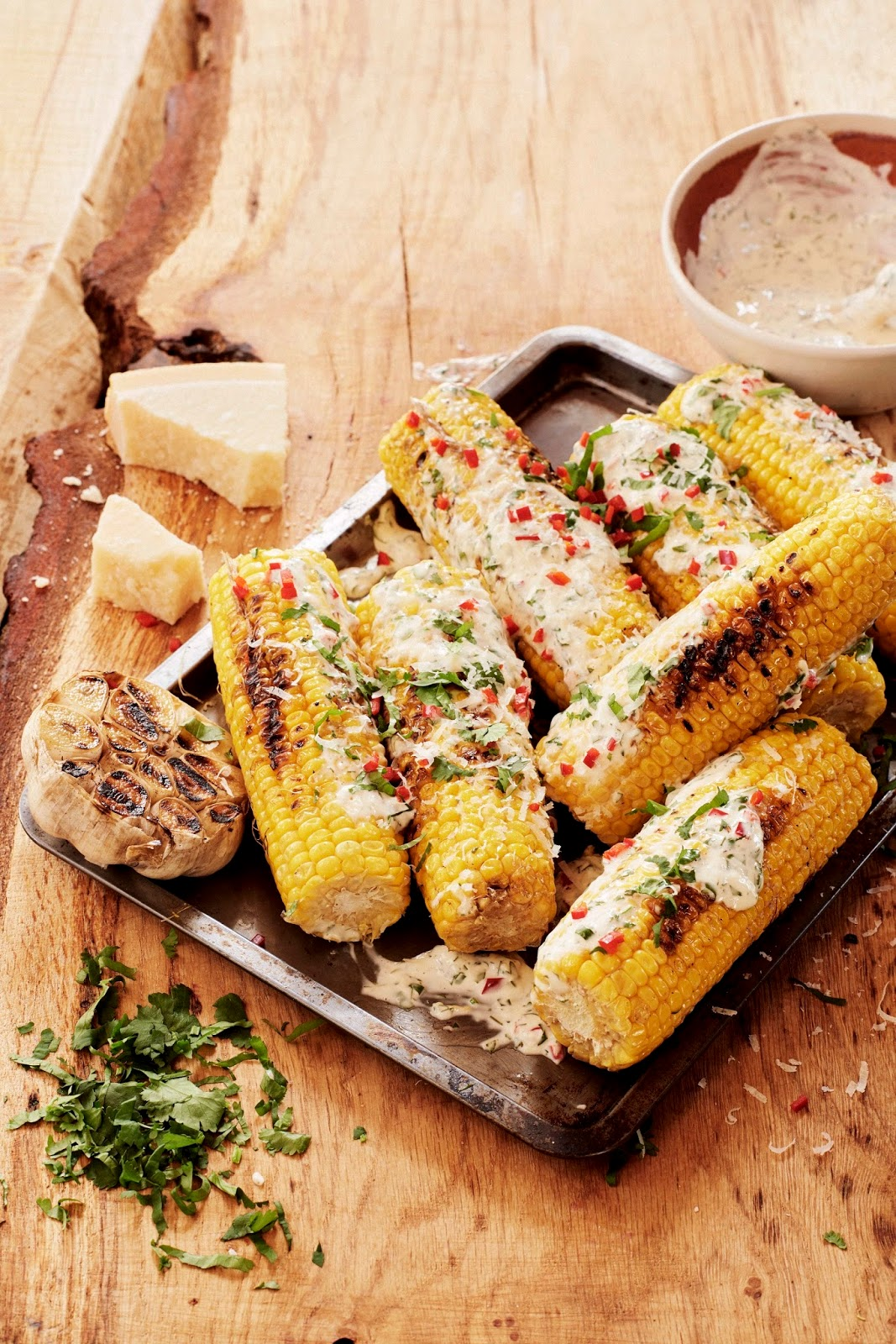 Latin Style Grilled Corn With A Kick...