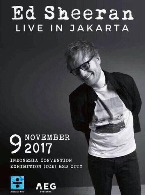 Konser Ed Sheeran Di Indonesia November 2017 – Profil Biodata EdSheran