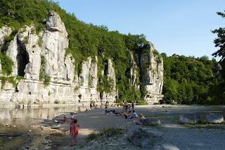 Río Ardèche a su paso por Labeaume.