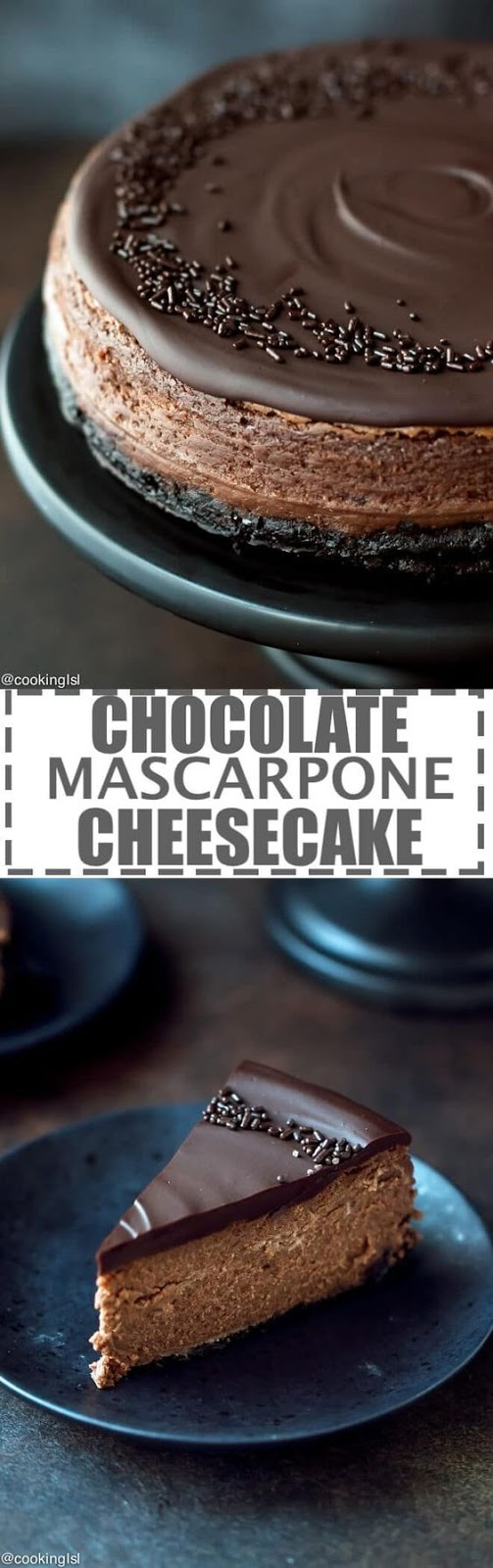 Chocolate Mascarpone Cheesecake Recipe