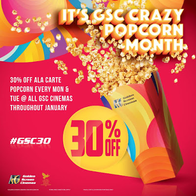 GSC Cinemas Malaysia Popcorn Discount Promo