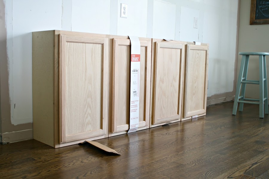 Making built ins from kitchen cabinets