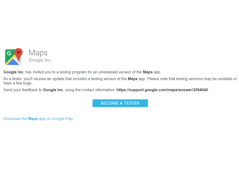 Google Maps Gets an Official Beta, Sign-Up for It Now - Kickedface