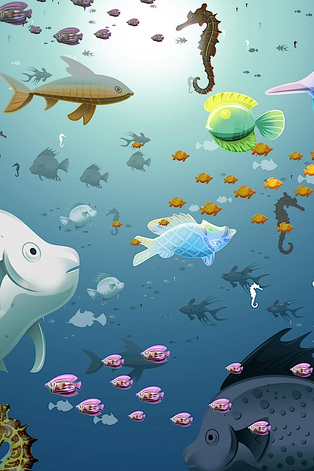 Cartoon Underwater World   Galaxy Note HD Wallpaper