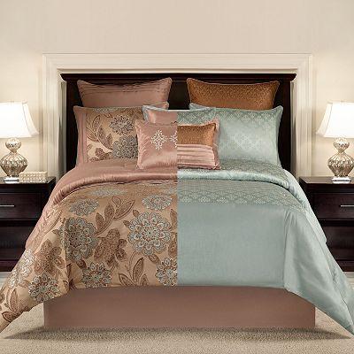 croft barrow 8 pc brighton reversible comforter set everything turquoise