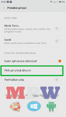 aplikasi yang dikunci