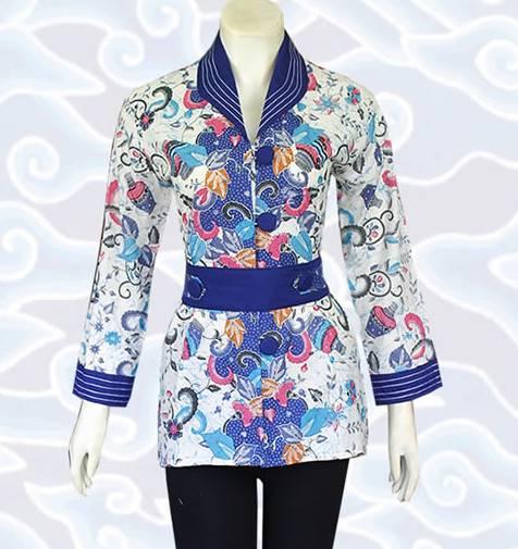 Model Baju Batik Semi Formal: 10 Model Baju Batik Muslim Atasan Wanita Terbaru 2018
