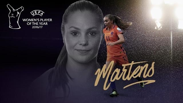 Lieke Martens é eleita a melhor jogadora do ano pela UEFA