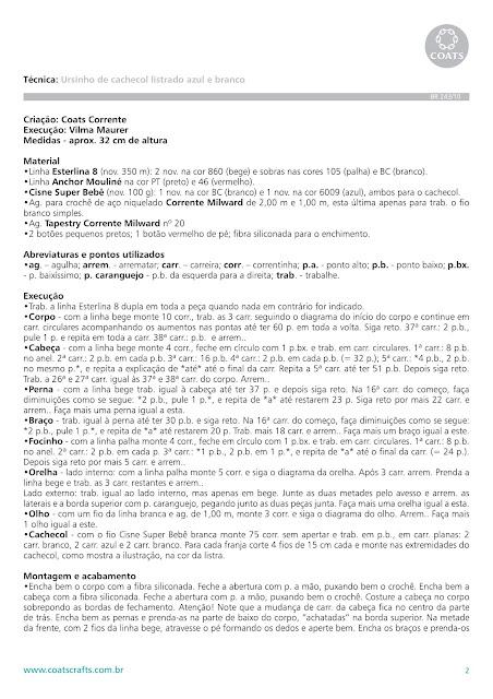 Amigurumi Ursinho de Croche com Grafico e Receita | Urso de crochê ... | 640x452