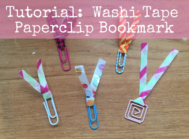 Washi tape ribbon paperclip bookmarks tutorial